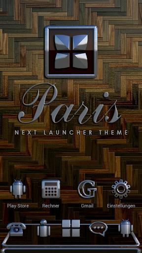 NEXT Launcher Theme PARIS 3D