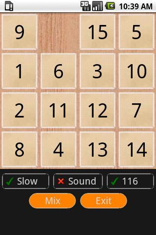 Puzzle 15 - screenshot