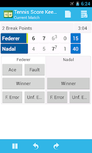 Tennis - Live Scores - Live Sports Results by xScores