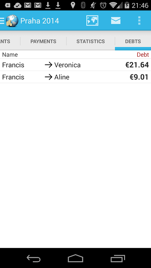 Travel Money - Group Expenses- screenshot