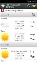 Screenshot of El Tiempo