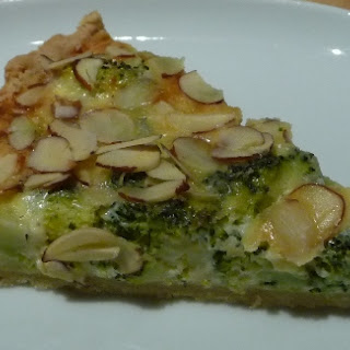 Broccoli and Goat Cheese Quiche