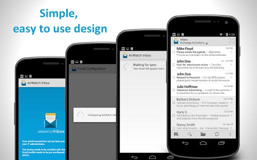 AirWatch Inbox screenshot