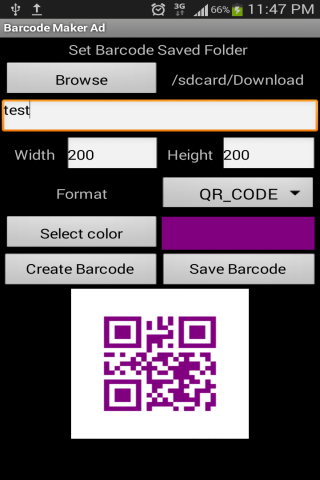 Barcode Maker Ad- screenshot