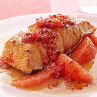 Glazed Salmon with Spicy Grapefruit Relish.