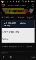 Screenshot of Lithuania Radio Music & News