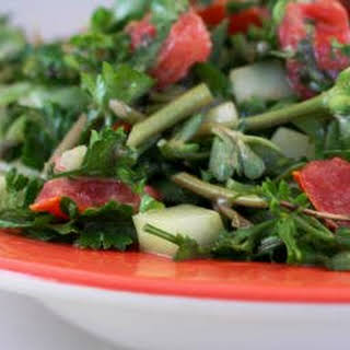 Chopped Middle Eastern Salad with Purslane.