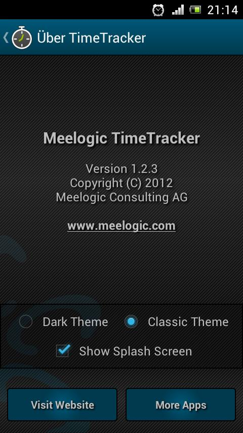 TimeTracker - Time Recording - screenshot