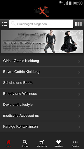 【免費購物App】DarXity Gothic Shop-APP點子