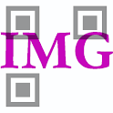 QR mélange d'image de code icon