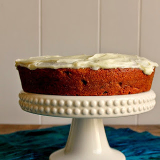 Sour Cream Spice Cake with Cream Cheese Frosting.