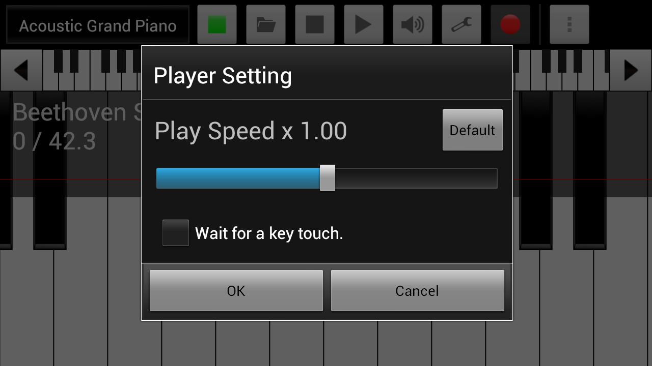 xPiano+- screenshot
