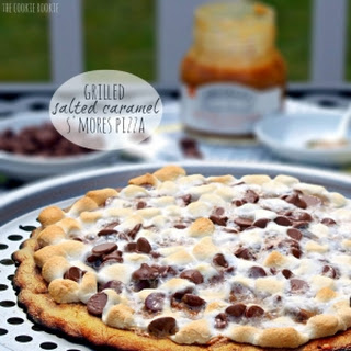 Grilled Salted Caramel S'mores Pizza.