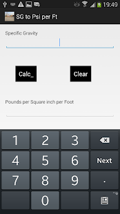 Sg To Psi Per Foot Android Apps On Google Play