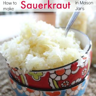 How to Make Sauerkraut in Mason Jars