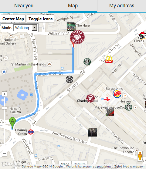 Closest Fast Food Restaurant To This Location