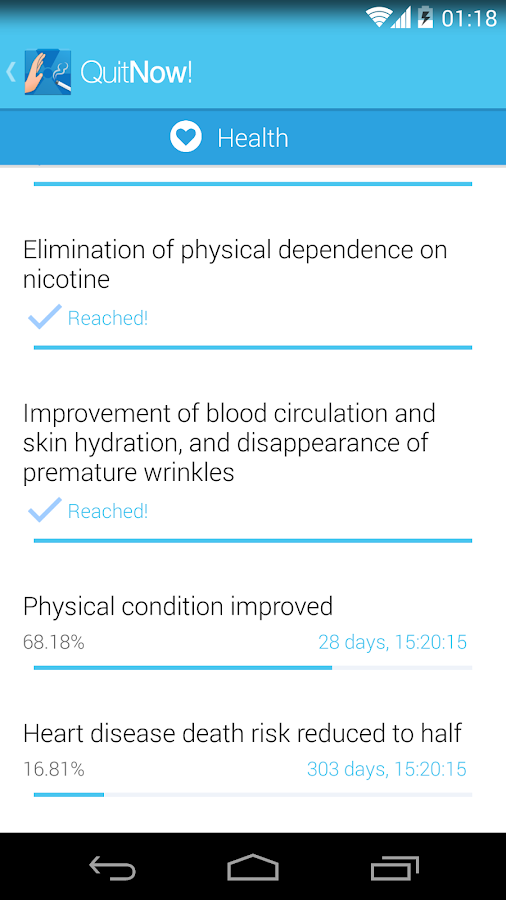 Quit smoking - QuitNow! - screenshot