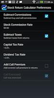 Screenshot of Stock Return Calculator