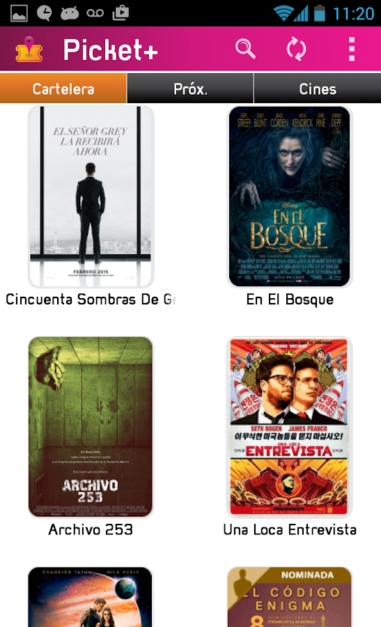 Picket - Cartelera de Cines: captura de pantalla