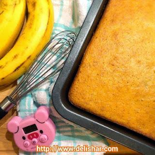 Spongy Honey Banana Cake