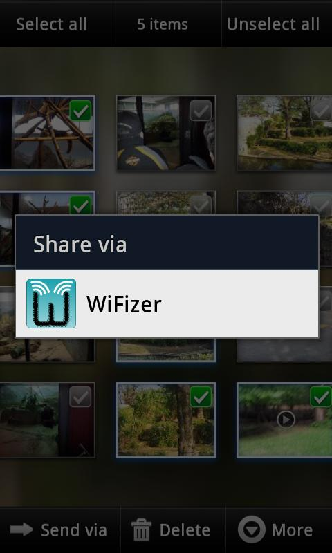 WiFizer - wifi file sharing- screenshot