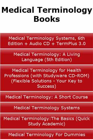 Medical Terminology Books