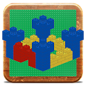 Medieval Castle in bricks icon