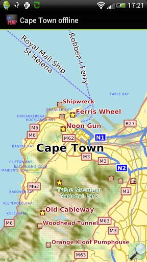 Cape Town offline map