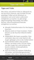 Screenshot of Pollen-News