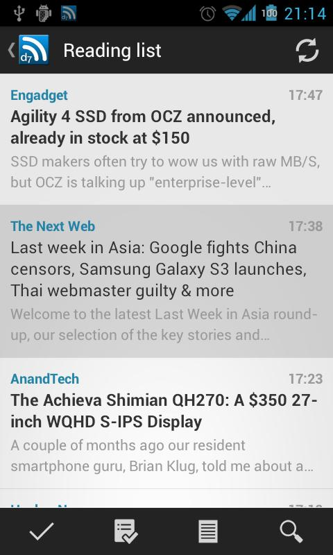 D7 Reader (RSS | News)- screenshot