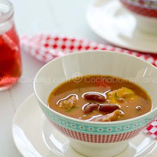 Sopión - Sancocho de Habichuelas Recipe (Sweet and Spicy Red Bean Stew)