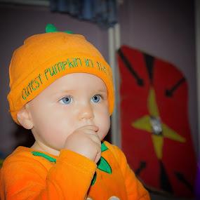 Pumpkin princess by Steve Trigger - Babies & Children Child Portraits