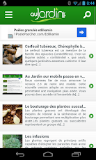 Au Jardin sur mobile passe en version 2.3