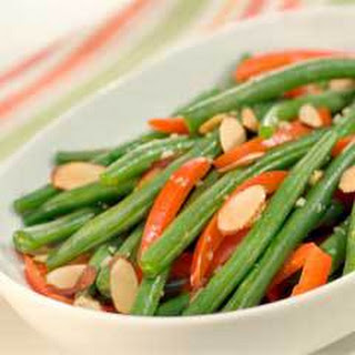 Savory Braised Green Beans & Red Pepper.