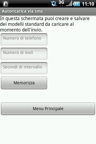 Autoricarica via sms - screenshot