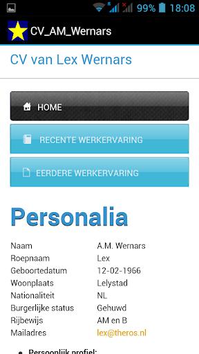 CV van Lex Wernars