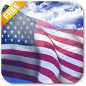 3D US Flag Live Wallpaper icon