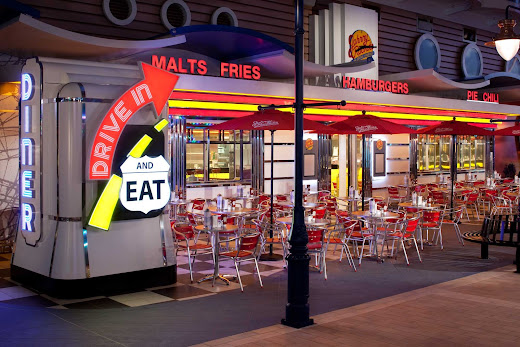 Hankering for a burger and fries? Johnny Rockets aboard Allure of the Seas will hit the spot.