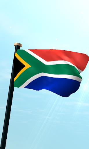 南アフリカフラグ3D無料ライブ壁紙