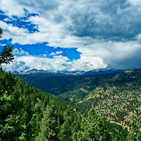 view from gold mountain by Charles Saunders - Novices Only Landscapes ( mountain, colorado, gold, boulder, storm,  )