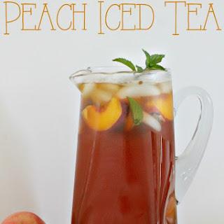 The Very Best Peach Iced Tea