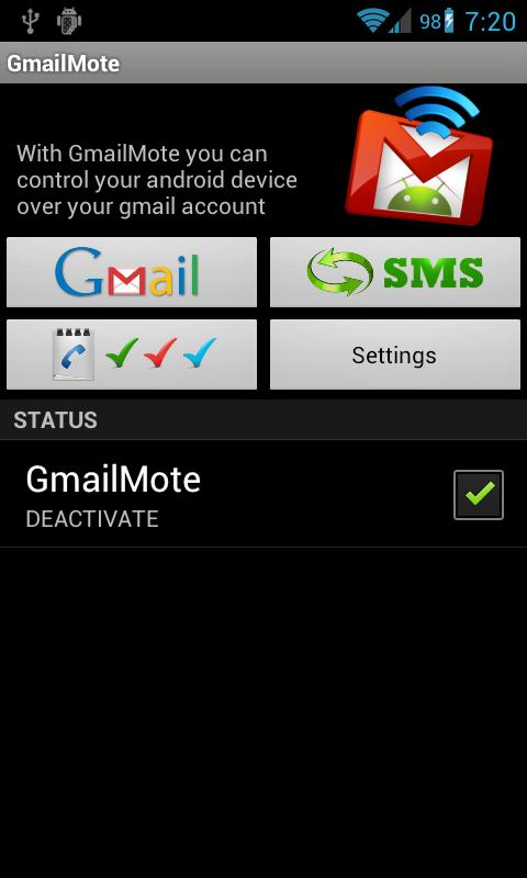 GmailMote - screenshot