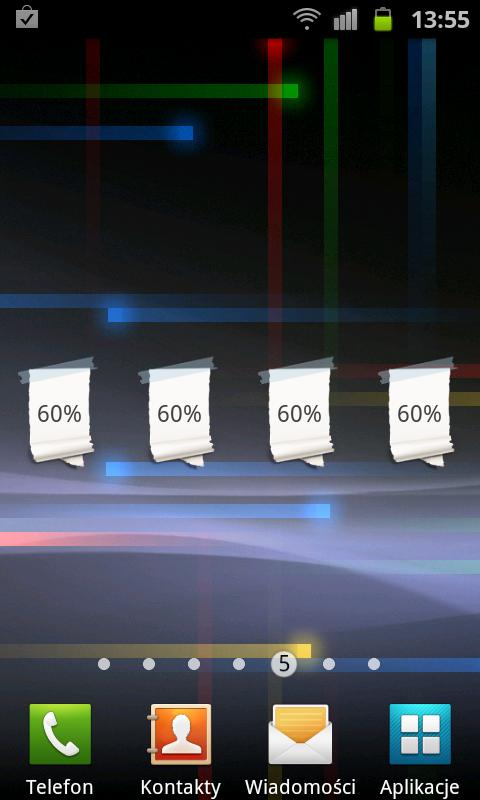 Paper Battery Widget - screenshot