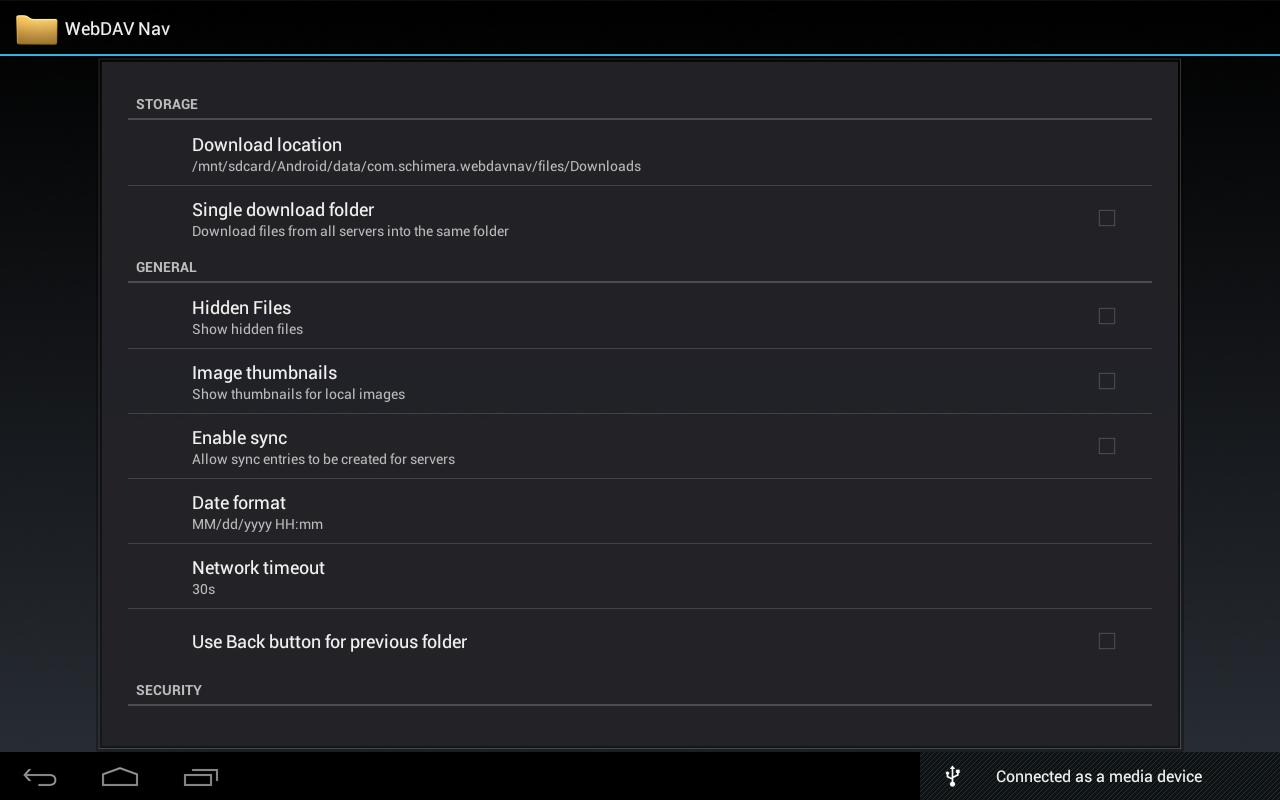 WebDAV Navigator - screenshot