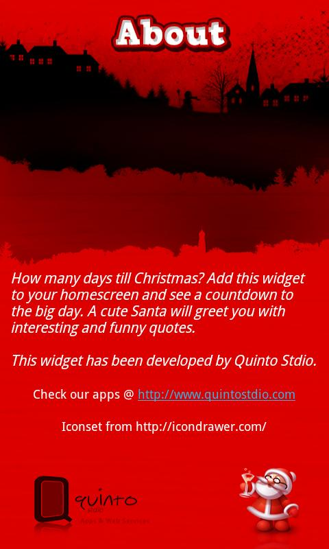 Christmas Countdown Widget - screenshot