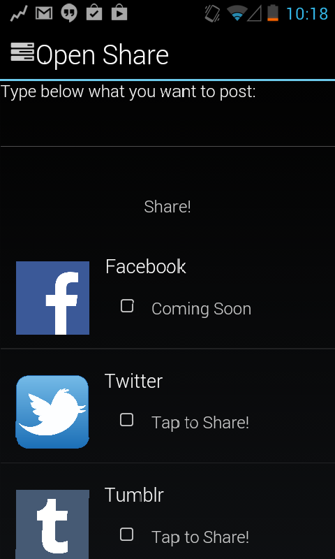 Open Share- screenshot