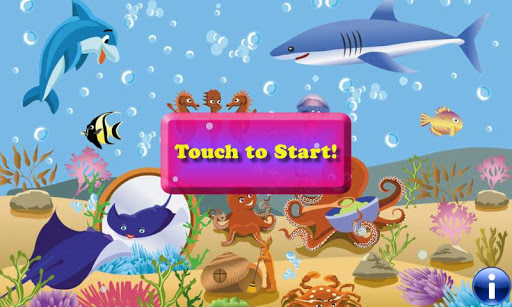 魚拼圖的幼兒!