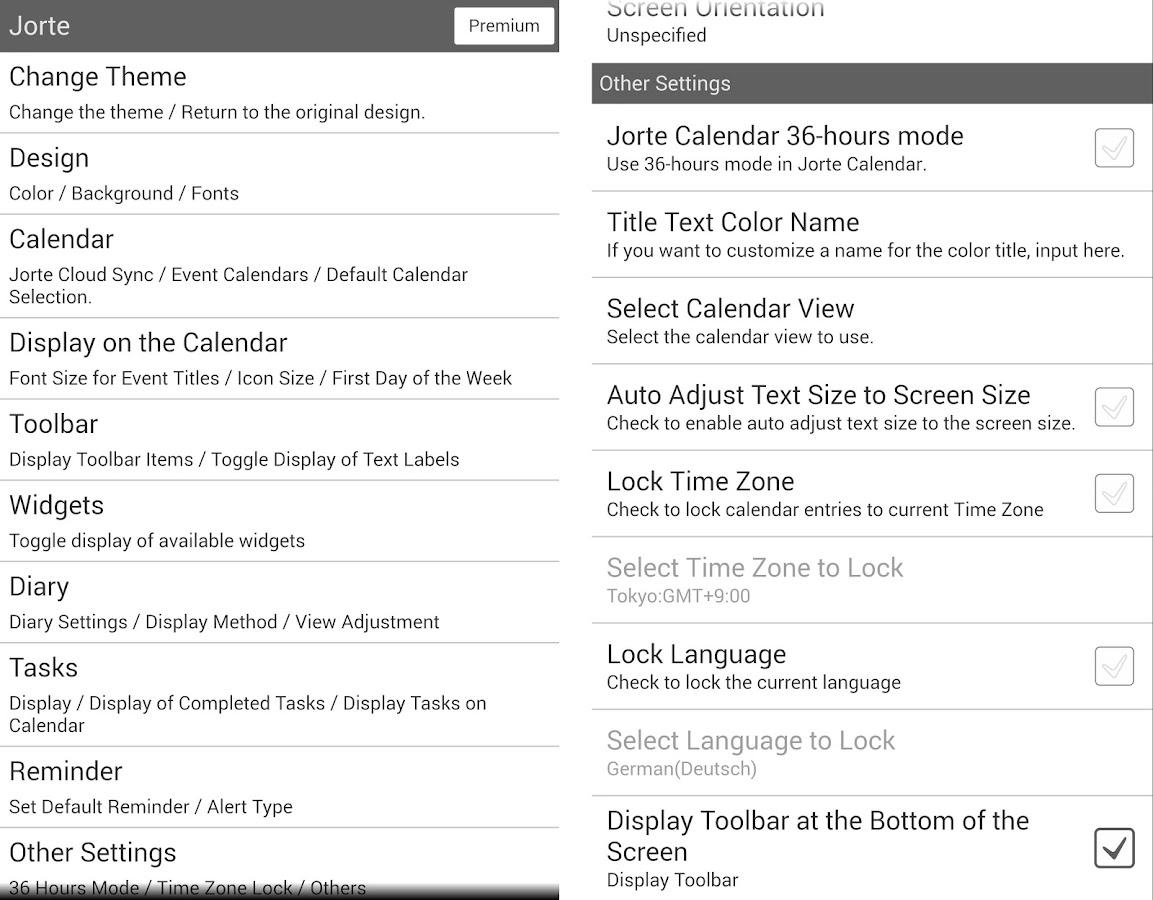 Jorte Calendar & Organizer- screenshot