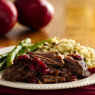 Pot Roast with Cranberry Pomegranate Sauce.