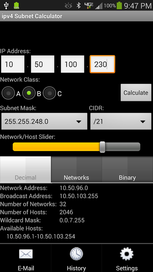 ipv4 Subnet Calculator- screenshot